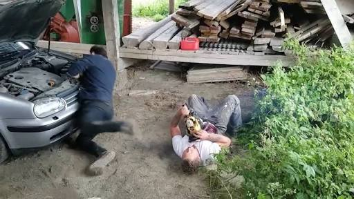 Chainsaw Prank Causes Man To Pass Out