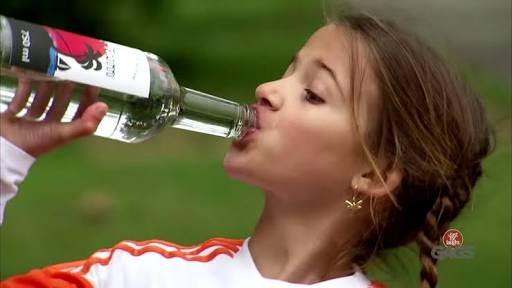 [FUNNY] Little Girl Drinks RUM