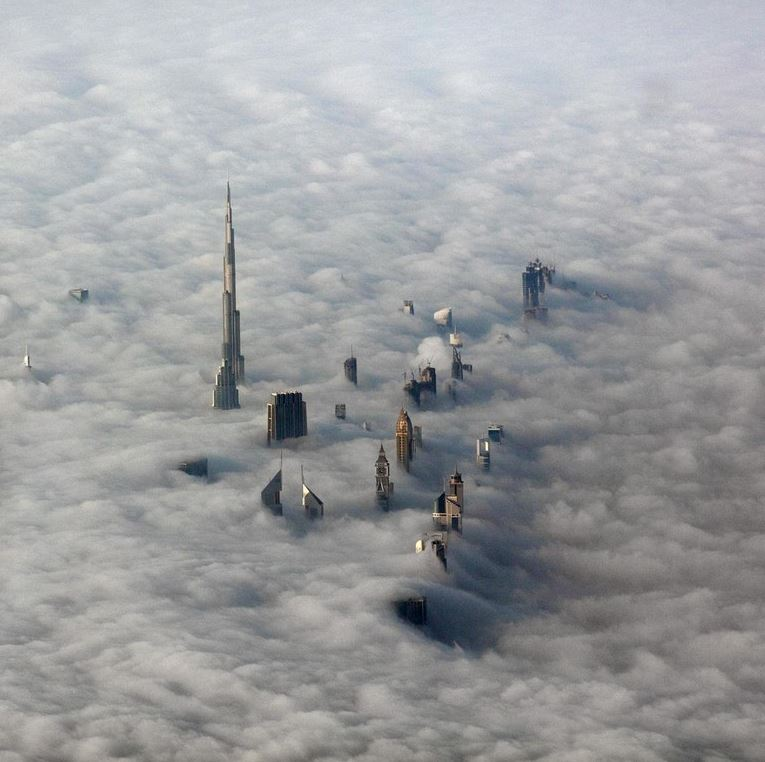 Dubai above cloud