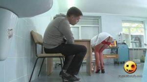 Sexy Nurse Picks Up Pills