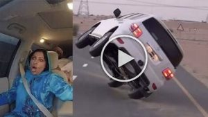 Guy Pulls Car Flip Prank On His Mom In Dubai