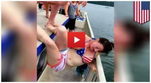 Woman's Neck Nearly Broken As Idiots Throw Her Overboard