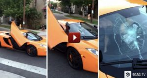 Kid Smashes $250,000 Car's Windshield With Skateboard
