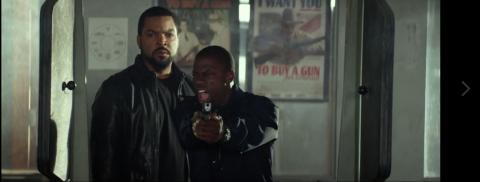 Hilarious shooting range scene from the film Ride Along (Kevin Hart and Ice Cube)