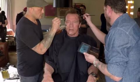 Arnold Schwarzenegger pranks fans as the Terminator